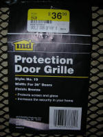 M-D Products Door Grille Label